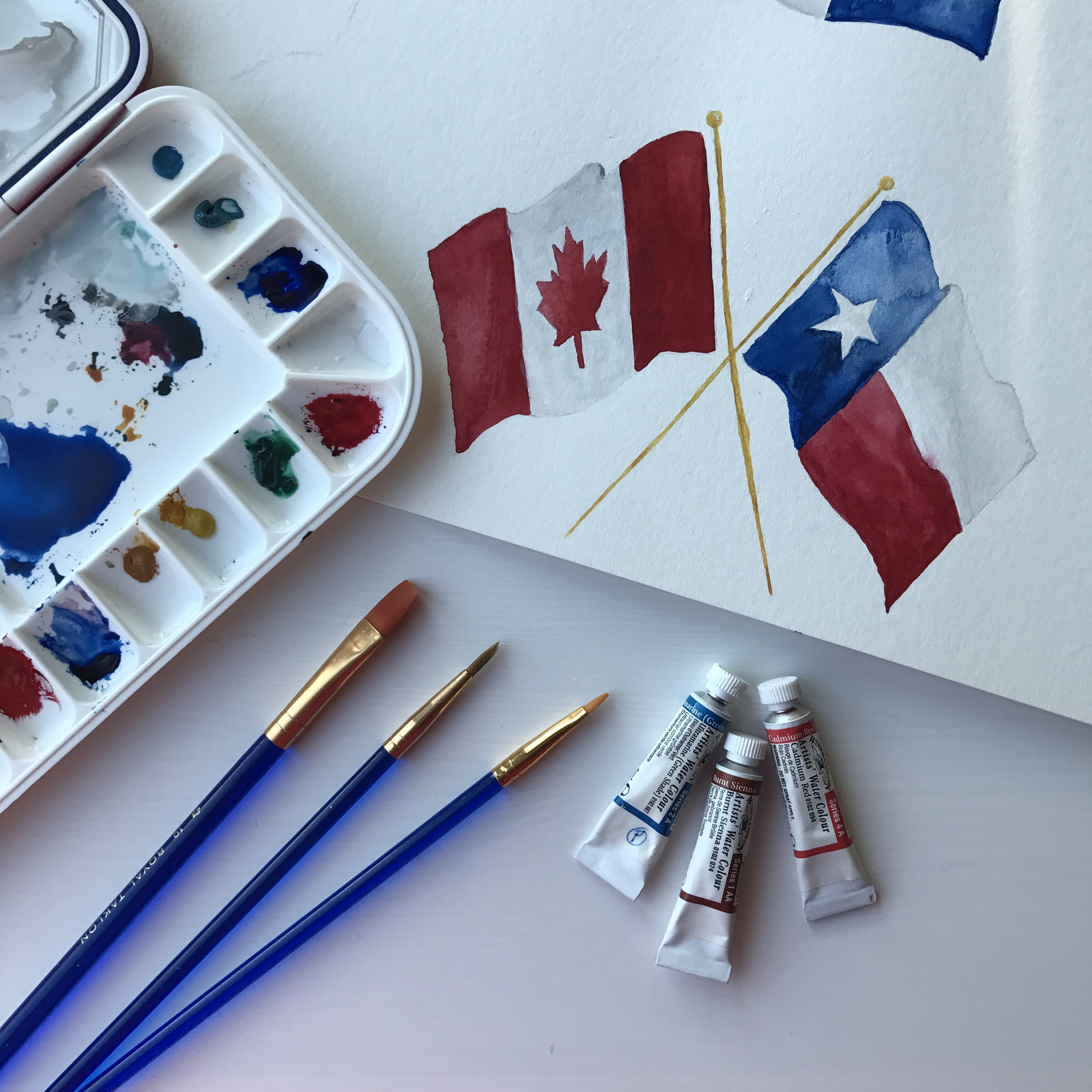 canada_texas_watercolor_painting_process